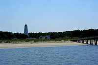 Georgetown Lighthouse & other buildings on the island in Winyah